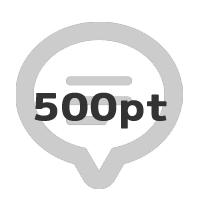 レビューで500ポイント